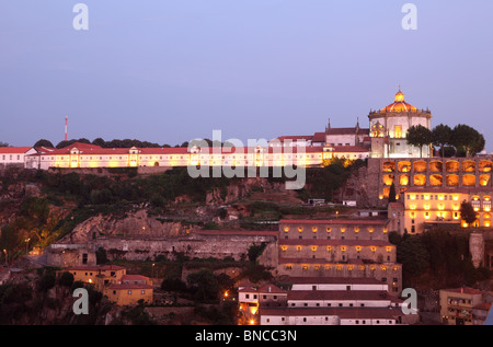 Serra do Pilar Monastery in Porto at dusk, Portugal - Stock Photo