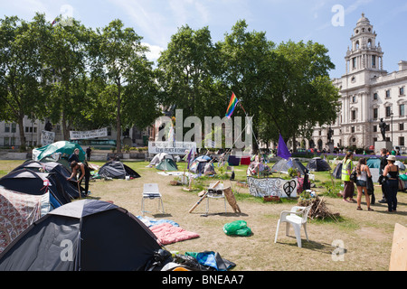 Parliament Square Peace Camp - Stock Photo