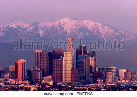Downtown Los Angeles Skyline, Southern California - Stock Photo