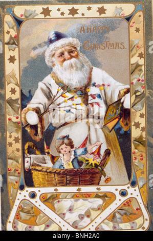 Happy Christmas, Nostalgia Cards - Stock Photo