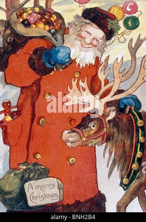 Merry Christmas, Nostalgia Cards - Stock Photo