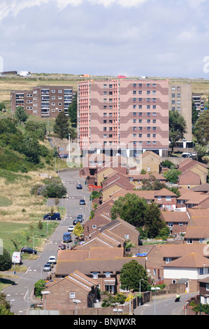 The Whitehawk council-housing estate in Brighton, East Sussex, England. - Stock Photo