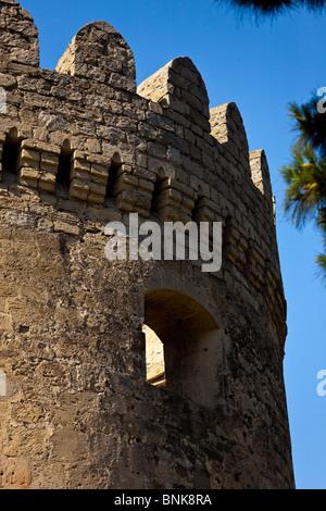 Old city walls, Baku, Azerbaijan - Stock Photo