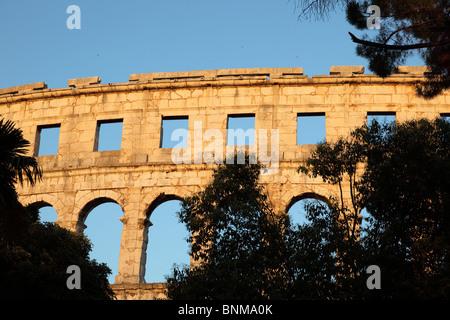 Roman Arena in Pula, Croatia - Stock Photo