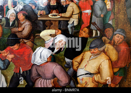 Germany German Europe European Western Europe Munich Bavaria Art arts Brueghel Pieter the Younger Peasant Wedding - Stock Photo