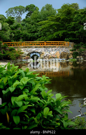 The Morikami Museum and Japanese Gardens is a center for Japanese arts in Palm Beach County Florica. - Stock Photo