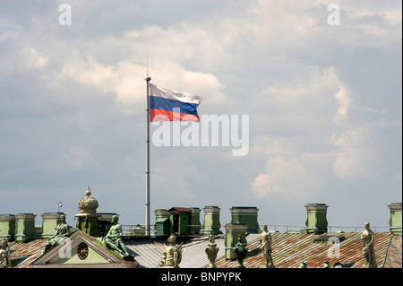 A Russian flag, Saint Petersburg, Russia - Stock Photo