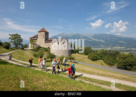 The castle of Vaduz, residence of the Prince of Liechtenstein - Stock Photo