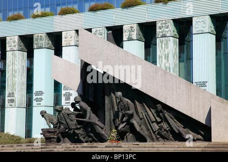 Poland, Warsaw, Uprising Monument - Stock Photo
