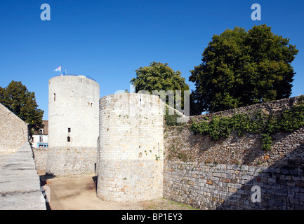 France, Paris region, Essonne, Dourdan castle - Stock Photo