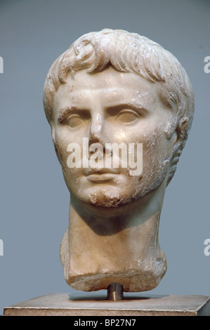 BUST OF EMPEROR AUGUSTUS - Stock Photo