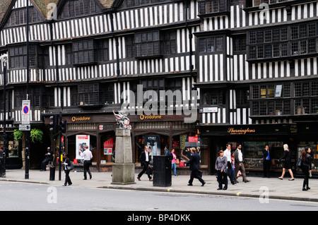 Staple Inn timbered buildings, High Holborn, London, England, UK - Stock Photo
