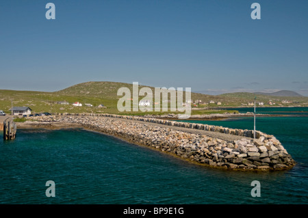 The Landing stage Berneray for the CalMac MV Loch Portain, Western Isles   SCO 6347 - Stock Photo