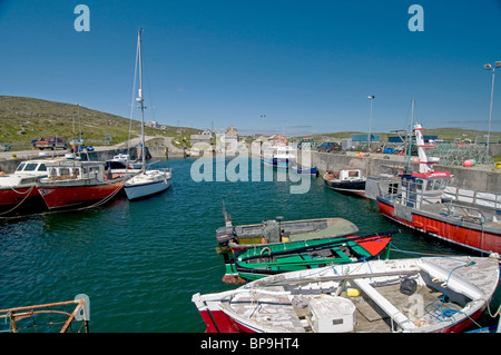 The harbour at Borgh on the Isle of Berneray, Outer Hebrides. Western Isles. Scotland.  SCO 6355 - Stock Photo