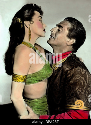 MARI BLANCHARD, VICTOR MATURE, THE VEILS OF BAGDAD, 1953 - Stock Photo