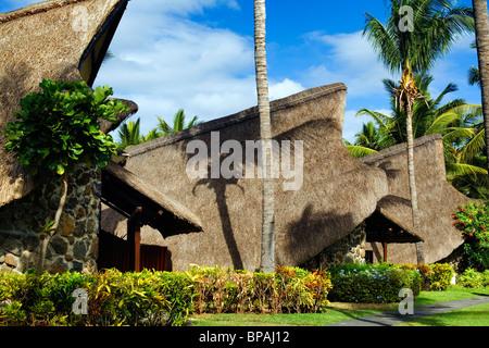 La Pirogue Hotel, Flic en Flac, Mauritius - Stock Photo