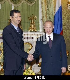 Putin met with Bashar al-Assad in the Kremlin - Stock Photo