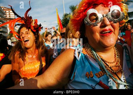 The Ipanema banda de Banda Carnival parade, Rio de Janeiro, Brazil. - Stock Photo