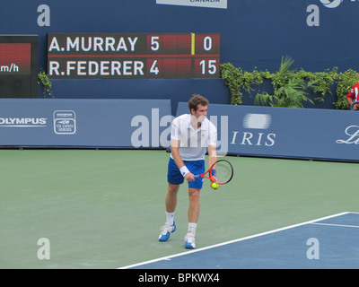 ANDY MURRAY (GREAT BRITAIN) winning match against Roger Federer (Switzerland) Final, ROGERS CUP, TORONTO, CANADA, - Stock Photo
