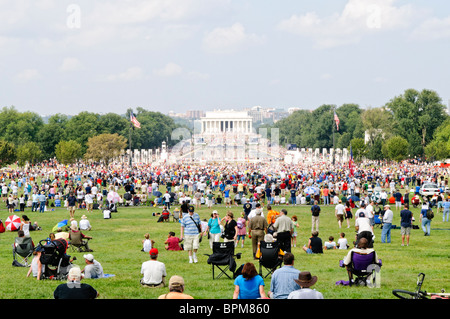 WASHINGTON DC, USA - Conservative television commentator Glenn Beck's 'Restore Honor' conservative rally at the - Stock Photo