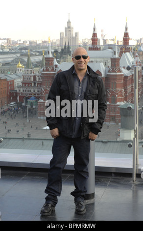 Hollywood star Vin Diesel attends Russian premiere of Fast & Furious (2009) - Stock Photo