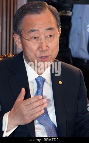 Medvedev meets with UN Secretary-General Ban Ki-moon - Stock Photo
