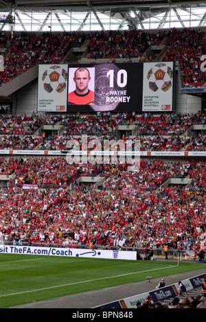 Chelsea v Manchester United, Community Shield, Wembley Stadium, London, UK. August 2010 - Stock Photo