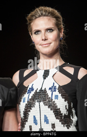 12 february 2010 -New Yok,USA - Project Runway season 7 Heidi Klum at finale fashion show at New York fashion Week. - Stock Photo