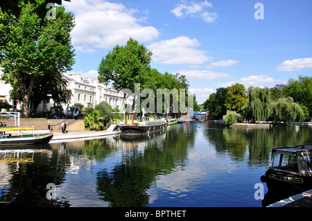 Little Venice, Maida Vale, City of Westminster, Greater London, England, United Kingdom - Stock Photo
