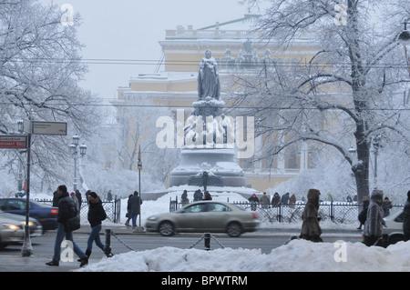 Winter in St Petersburg - Stock Photo