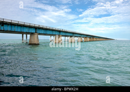 Old bridge to Key West. - Stock Photo