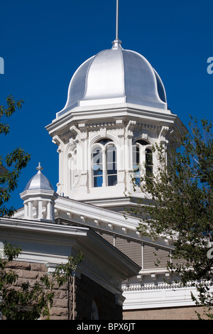 Silver dome of the Nevada state capitol building or statehouse in Carson City, Nevada, USA - Stock Photo