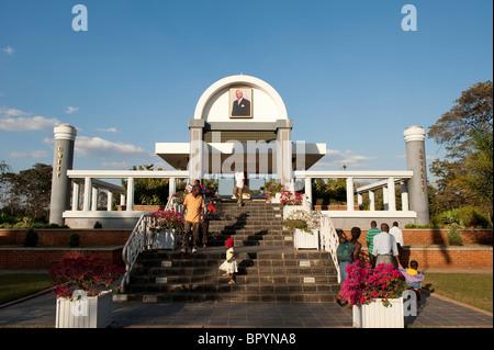Mausoleum to HE DR Kamuzu Hastings Banda, Lilongwe, Malawi - Stock Photo