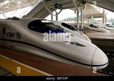 Super fast CRH trains in China. - Stock Photo