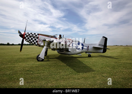 A North American P51 Mustang fighter escort aircraft of WW2 - Stock Photo