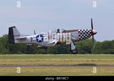 A North American P51 Mustang escort fighter of the USAF - Stock Photo