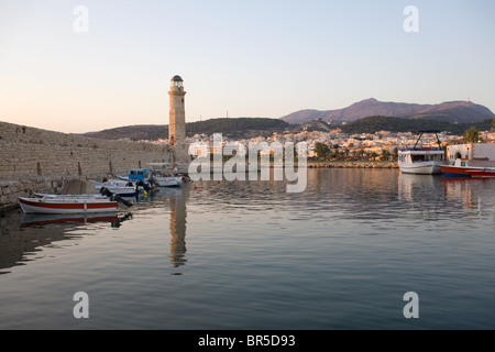 The old venetian port of Rethymno, Crete, Greece. - Stock Photo