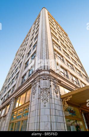 The Van Antwerp Building, Beaux-Arts style with a terra cotta facade, Mobile, Alabama, USA - Stock Photo
