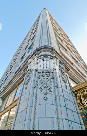 The Van Antwerp Building, Beaux-Arts style with a terra cotta facade, Mobile, Alabama, USA - Stock Photo