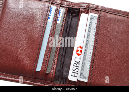 Wallet with debit and credit cards - Stock Photo