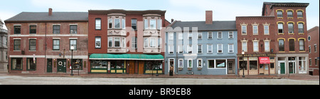 A view of Fore Street in Portland Maine. - Stock Photo