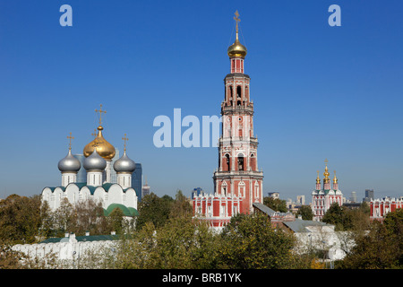 Panoramic view of the the 16th century Novodevichy Monastery in Moscow, Russia - Stock Photo