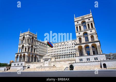 Dom Soviet, the building from which Azerbaijan was governed during the Soviet era, Baku, Azerbaijan - Stock Photo