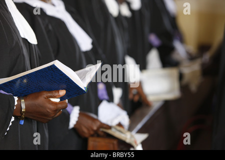 Presbyterian Evangelical church in Lome, Togo, West Africa - Stock Photo