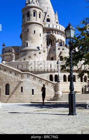 Fisherman's Bastion Budapest Hungary Buda - Stock Photo