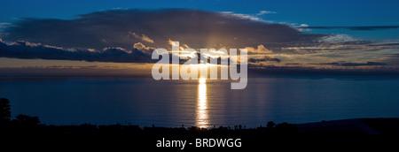 panorama sunset Laguna Beach, California, USA - Stock Photo