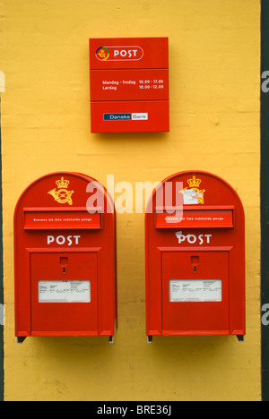 Post boxes Helsingor north Sjaelland Denmark Europe - Stock Photo
