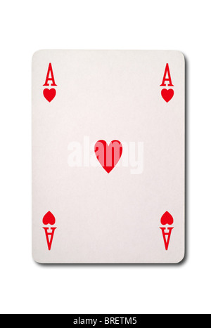 Ace of Hearts with clipping path - Stock Photo