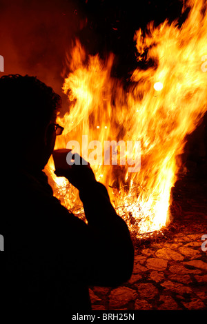 ©John Angerson Gabriel David prepares for the feast in San Giuseppe, in Scopello, Sicily. - Stock Photo