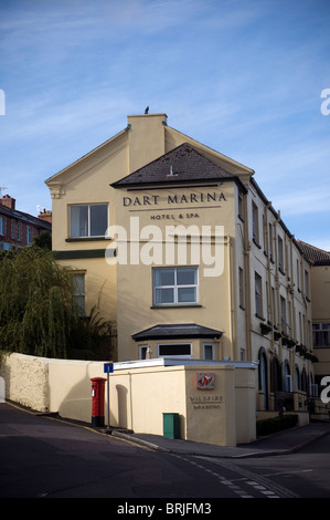 Dart Marina hotel and spa on River Dart Dartmouth, Harbour, Devon - Stock Photo